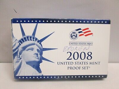 2008 Us Mint Proof Set With Box And Coa