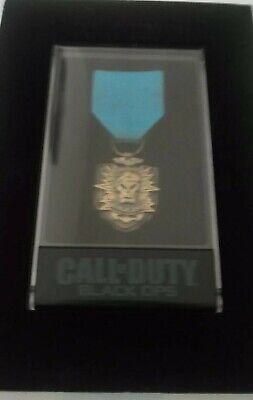 Official Call Of Duty Black Ops Exclusive Prestige Edition Medal W/ Display Case