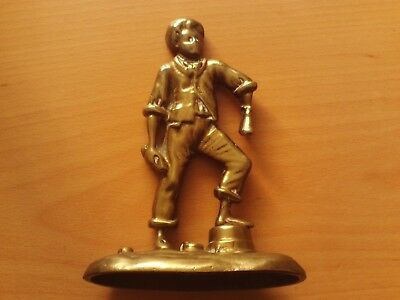 Antique Vintage Rare Heavy Cast Brass Shoe Shine Boy Figurine.