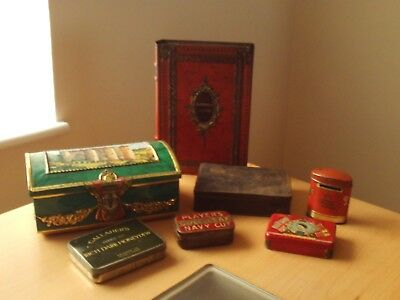 Vintage Large Collection of Advertising Tins ~Gourmets/Oxo/Gallahers/Players Etc