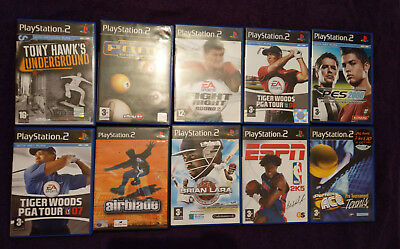 10 Different Sports Video Games Bundle - Sony Playstation 2 (Ps2) - Pal