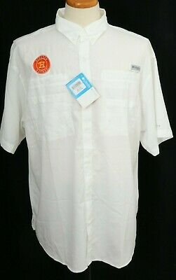 New Houston Astros Embroidered Columbia PFG Low Drag Omni-Shade Shirt Men L