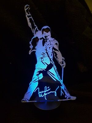 Freddie Mercury of Queen  3D Acrylic Engraved LED lamp_