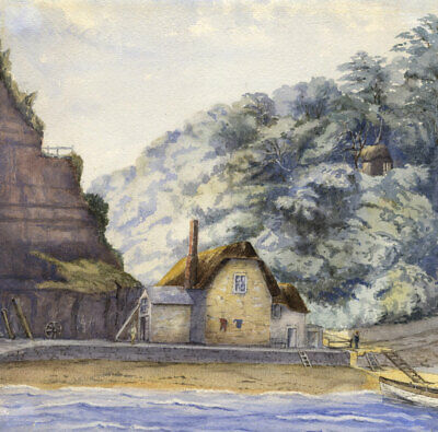 Early 20th Century Watercolour - Cottage by the Sea