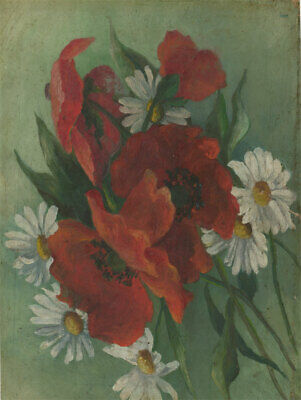Early 20th Century Oil - Poppies and Daisies
