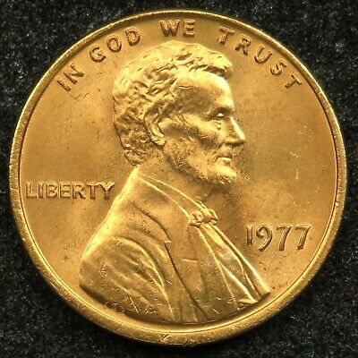 1977 Uncirculated Lincoln Memorial Cent Penny BU (B05)