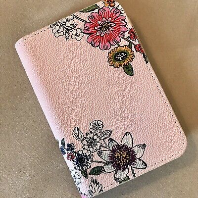 Vera Bradley Leatherette Notepad Journal with pen Retired Coral Floral NWOT
