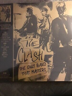 """The clash """"The Only Band That Matters"""" - BRAND NEW 2019 Gold Vinyl lp"""