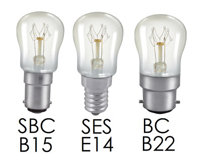 PACKS OF NEW 15w BRANDED PYGMY SES SIGN LAMPS 240v BC CLEAR GLASS SBC