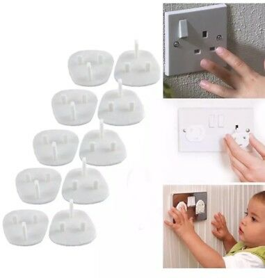 5//10//20 x CHILD BABY PROOF MAINS ELECTRICAL SAFETY INSERTS PLUG SOCKET COVERS
