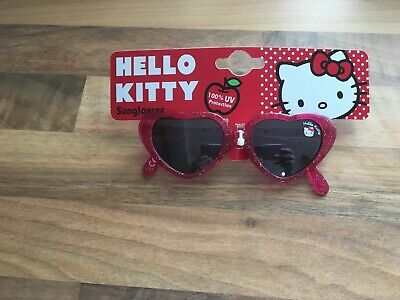 51ba1434a Brand New Hello Kitty Heart Shaped Childrens Girls Sunglasses Pink Glitter  3-8Y