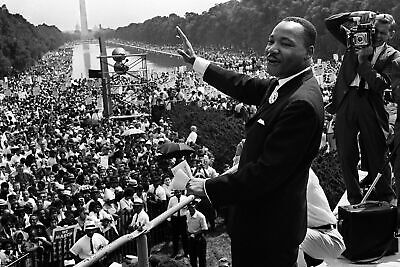"1963 MARTIN LUTHER KING ""I Have a Dream"" Speech PHOTO   (182-B )"