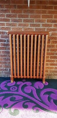 Antique Cast Iron Radiator, VERY RARE!! WITH TOPS!! STUNNING ANTIQUE COPPER!!