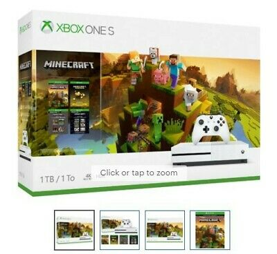 Microsoft Xbox One S 1TB White Minecraft Creators Bundle New, low price!