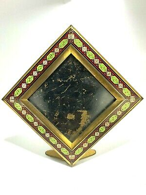 Antique French Art Deco Superb Enamel and Brass Picture/Photo Frame