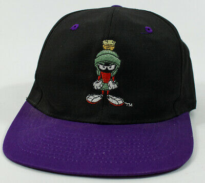 Vintage Looney Tunes Marvin The Martian Hat Snapback Cap Embroidered 1993