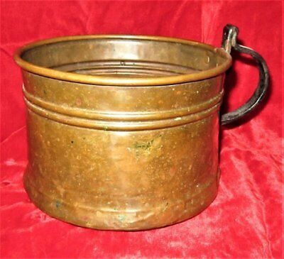 Antique Primitive/Rustic  Large Copper Scoop W/Handle