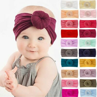 Big Bow Baby Girls Hairband Headband Turban Head Wrap Toddler Kids Stretch 0-6Y