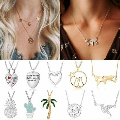 Fashion Women Stainless Steel Clavicle Necklace Pendant Charm Choker Jewelry Hot