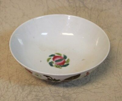 Rare Antique 19th Century Chinese Floral Porcelain Bowlsigned by maker