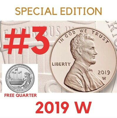 2019 W UNCIRCULATED #3 of 3 Lincoln Union Shield Cent West Point Penny U.S. Mint