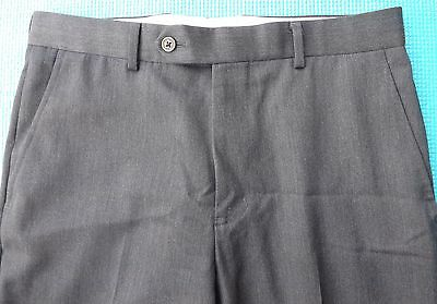 BROOKS BROTHERS 1818 Regent Mens Gray Flat Front Dress Pants Sz 31x26 100% Wool