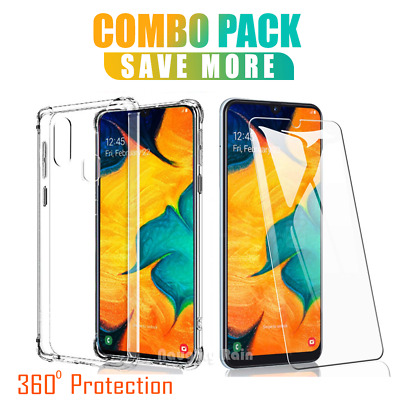 For Samsung Galaxy A30 A50 A20 Clear Case Shockproof Gel Heavy Duty Tough Cover