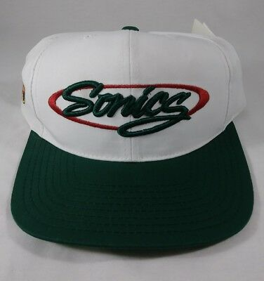 Seattle Supersonics NBA Basketball Vintage 90's Snapback Cap Hat New Old Stock