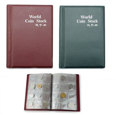 Durable 120 Coin Album Collection Book Holder Collectors Save Money Penny JZY
