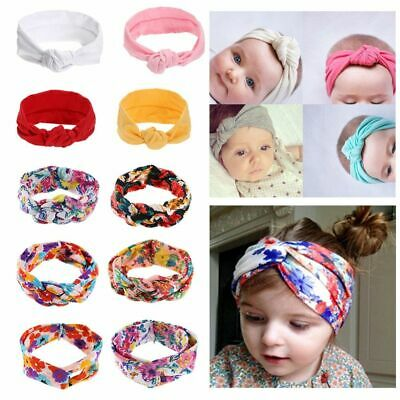 Baby Girls Knitted Tie Knot Headband Hairbands Turban Elastic Hair Accessories