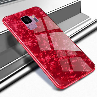Luxury Marble Tempered Glass Hard Phone Case Cover For Samsung S9 Note 8 Note 9