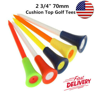 Golf Tees Plastic 2 3/4 Inch Cushion Top Soft 50 Count 70mm Outdoor Durable US