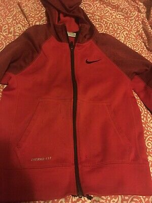 df286e4ef9e9 Nike Therma Fit Elite Full Zip Hoodie Sz S Red Black Boys Youth Kids As Is