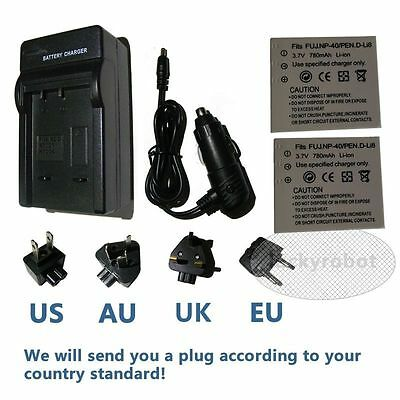 Battery / charger for HP PhotoSmart R742 R742V R742xi li40 L2508A Digital Camera