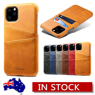 iPhone XS Max XR X 8 7 6s Plus Leather Wallet Card Holder Ultra Slim Cover Case