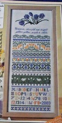 Welcome Spring With This Stunning Crocus Band Sampler Older Cross Stitch Chart