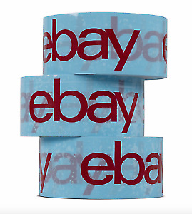 6 Rolls of eBay Branded Packaging Strong Parcel Packing Tape 66m Long 48mm Wide