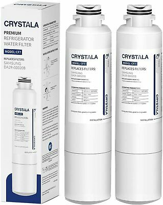 2 Pack Refrigerator Water Filter Replacement for Samsung HDX-FMS-2