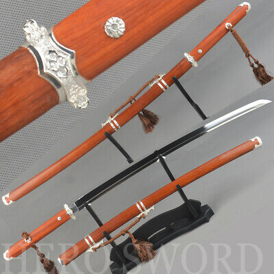 Hand Forged T1095 High Carbon Steel Chinese Samurai Sword Tang DAO Battle Saber