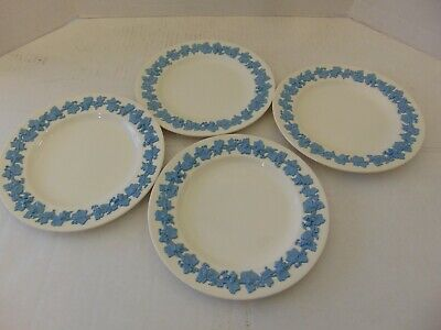 Wedgwood England Queensware Lavender On Cream Four Luncheon Plates