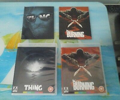 John Carpenters THE THING Blu Ray Arrow Video & THE BURNING BLU RAY DVD
