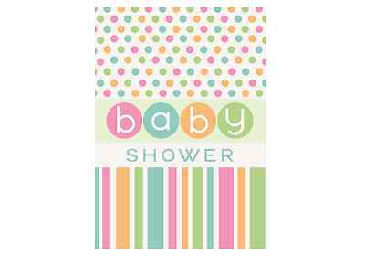 Baby Shower Invites - Neutral Baby Theme (8) With Envelope