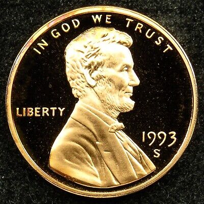 1993 S Deep Cameo Proof Lincoln Memorial Cent Penny (B05)
