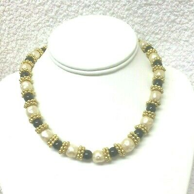 Vintage Jewellery Gorgeous Signed Rima Ariss Baroque Faux Pearl Necklace