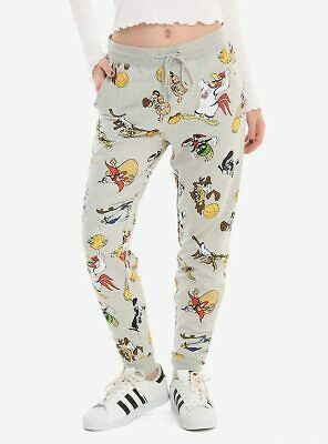 Space Jam Character Girls Jogger lounge pants taz bugs NWT Large and Extra LArge