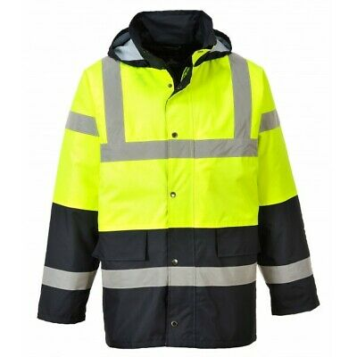 931 Hivis Contrast Traffic Jacket Med S466YBRM Portwest Genuine Quality Product