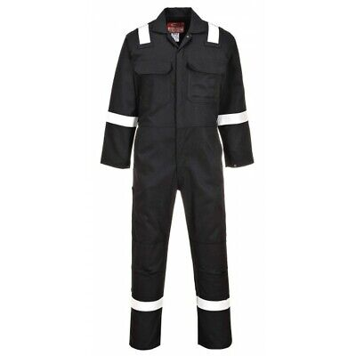 931 Black Bizweld Iona Fr Coverall Med BIZ5BKRM Portwest Genuine Quality Product