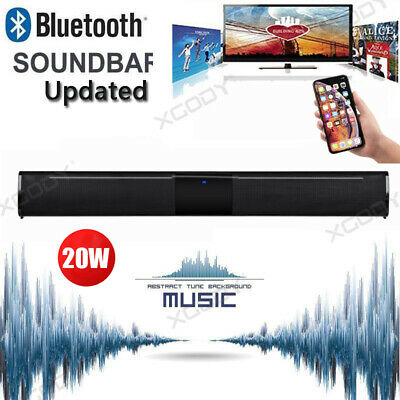 XGODY 4.0 Channel Wireless Bluetooth TV Soundbar Home Theater Speaker System 20W