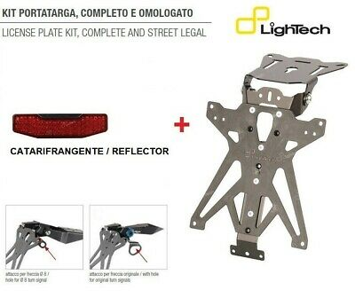 LIGHTECH KIT PORTATARGA RECLINABILE DUCATI Monster 1200 / S / R 2017-2018