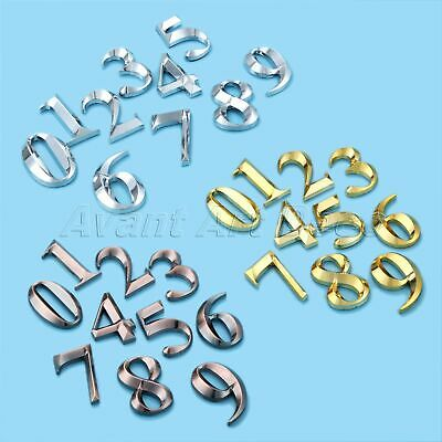 3D Plastic Door Address Numbers Self Adhesive Plate Plaques Sign Stickers 5cm